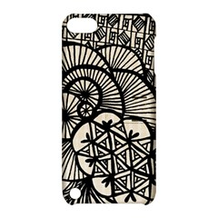 Background Abstract Beige Black Apple Ipod Touch 5 Hardshell Case With Stand