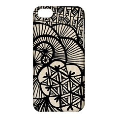 Background Abstract Beige Black Apple Iphone 5c Hardshell Case by Nexatart