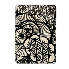 Background Abstract Beige Black Samsung Galaxy Tab 2 (10 1 ) P5100 Hardshell Case
