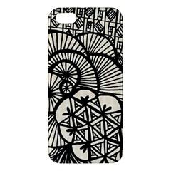 Background Abstract Beige Black Iphone 5s/ Se Premium Hardshell Case