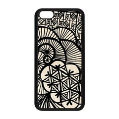 Background Abstract Beige Black Apple Iphone 5c Seamless Case (black)
