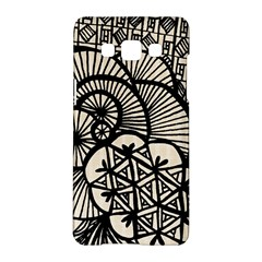Background Abstract Beige Black Samsung Galaxy A5 Hardshell Case  by Nexatart