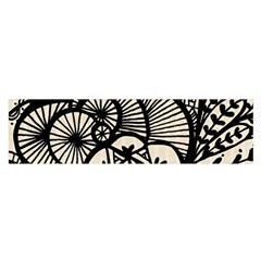 Background Abstract Beige Black Satin Scarf (oblong)