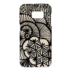 Background Abstract Beige Black Samsung Galaxy S7 Hardshell Case