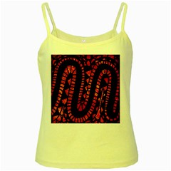 Background Abstract Red Black Yellow Spaghetti Tank
