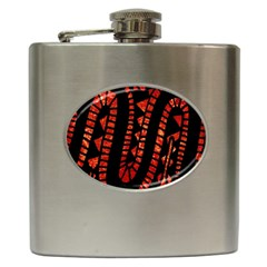 Background Abstract Red Black Hip Flask (6 Oz)