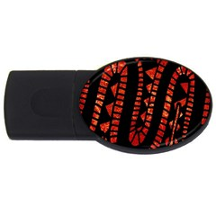 Background Abstract Red Black Usb Flash Drive Oval (2 Gb)