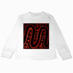 Background Abstract Red Black Kids Long Sleeve T Shirts