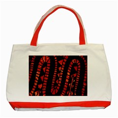 Background Abstract Red Black Classic Tote Bag (red)