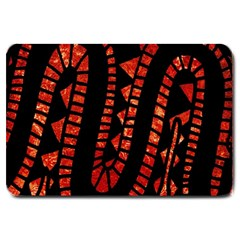 Background Abstract Red Black Large Doormat