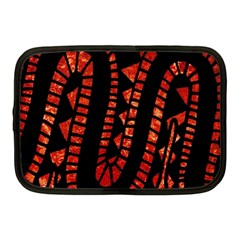 Background Abstract Red Black Netbook Case (medium)