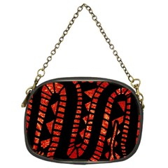 Background Abstract Red Black Chain Purses (two Sides)