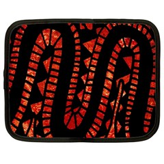 Background Abstract Red Black Netbook Case (xxl)