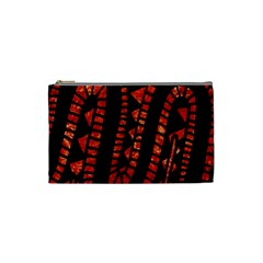 Background Abstract Red Black Cosmetic Bag (small)