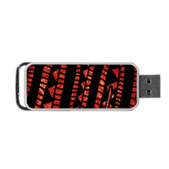 Background Abstract Red Black Portable Usb Flash (two Sides)