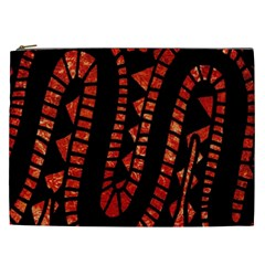 Background Abstract Red Black Cosmetic Bag (xxl)