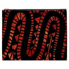 Background Abstract Red Black Cosmetic Bag (xxxl)