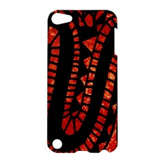 Background Abstract Red Black Apple Ipod Touch 5 Hardshell Case