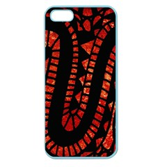 Background Abstract Red Black Apple Seamless Iphone 5 Case (color)