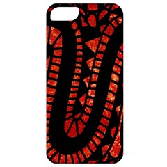 Background Abstract Red Black Apple Iphone 5 Classic Hardshell Case