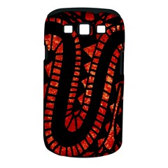 Background Abstract Red Black Samsung Galaxy S Iii Classic Hardshell Case (pc+silicone)