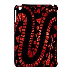 Background Abstract Red Black Apple Ipad Mini Hardshell Case (compatible With Smart Cover)