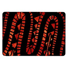 Background Abstract Red Black Samsung Galaxy Tab 8 9  P7300 Flip Case