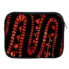 Background Abstract Red Black Apple Ipad 2/3/4 Zipper Cases