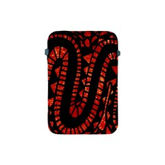Background Abstract Red Black Apple Ipad Mini Protective Soft Cases by Nexatart