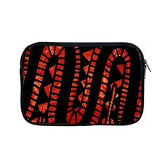 Background Abstract Red Black Apple Ipad Mini Zipper Cases