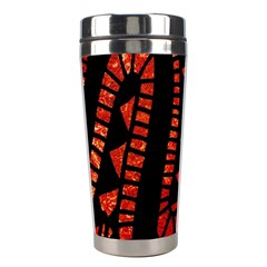 Background Abstract Red Black Stainless Steel Travel Tumblers