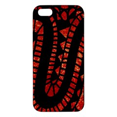 Background Abstract Red Black Iphone 5s/ Se Premium Hardshell Case