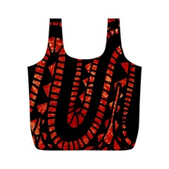 Background Abstract Red Black Full Print Recycle Bags (m)