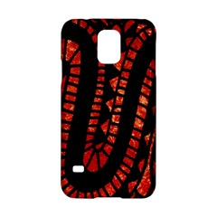 Background Abstract Red Black Samsung Galaxy S5 Hardshell Case