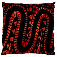 Background Abstract Red Black Standard Flano Cushion Case (two Sides)