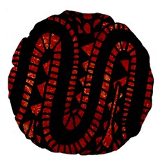 Background Abstract Red Black Large 18  Premium Flano Round Cushions