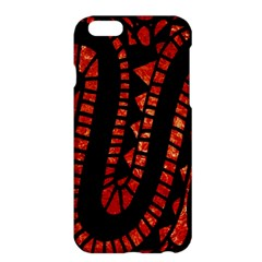 Background Abstract Red Black Apple Iphone 6 Plus/6s Plus Hardshell Case