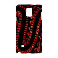 Background Abstract Red Black Samsung Galaxy Note 4 Hardshell Case