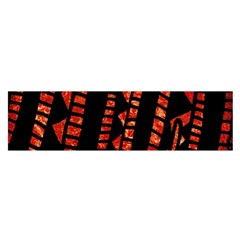Background Abstract Red Black Satin Scarf (oblong)