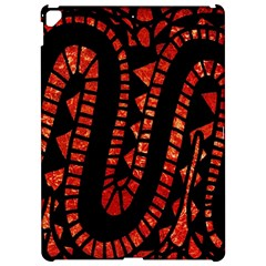 Background Abstract Red Black Apple Ipad Pro 12 9   Hardshell Case