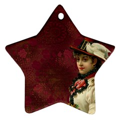 Vintage Edwardian Scrapbook Ornament (star)