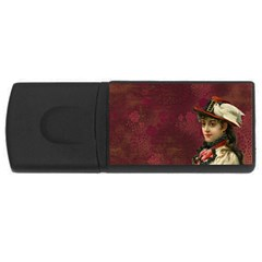 Vintage Edwardian Scrapbook Rectangular Usb Flash Drive
