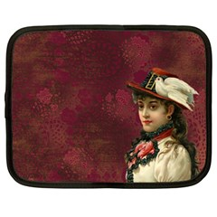 Vintage Edwardian Scrapbook Netbook Case (large)