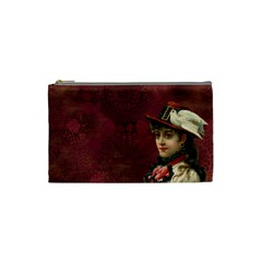 Vintage Edwardian Scrapbook Cosmetic Bag (small)