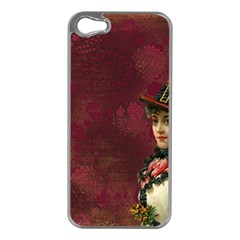 Vintage Edwardian Scrapbook Apple Iphone 5 Case (silver)