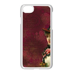 Vintage Edwardian Scrapbook Apple Iphone 7 Seamless Case (white)