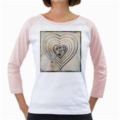 Heart Drawing Angel Vintage Girly Raglans
