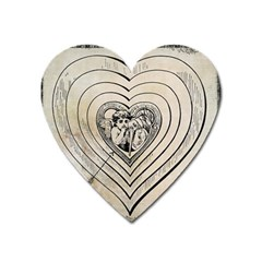 Heart Drawing Angel Vintage Heart Magnet by Nexatart