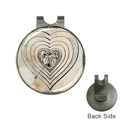 Heart Drawing Angel Vintage Hat Clips With Golf Markers
