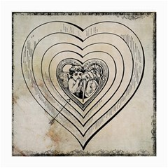 Heart Drawing Angel Vintage Medium Glasses Cloth